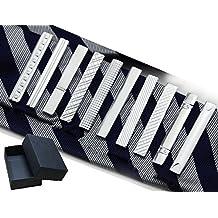 Sukidaya Tie Clip Silver Necktie Clips 10 pcs/set