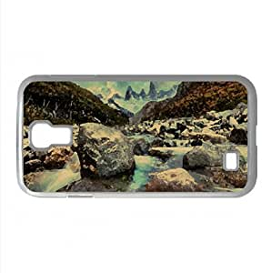 Mountain River In Argentina Watercolor style Cover Samsung Galaxy S4 I9500 Case (Argentina Watercolor style Cover Samsung Galaxy S4 I9500 Case)