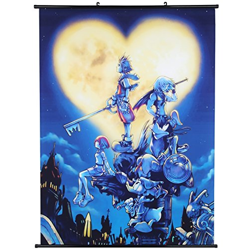 Uniquelover Kingdom Hearts Game Anime Fabric Wall Scroll Pos