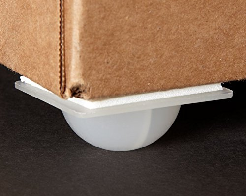 Kinter 107139 Display Caster with Adhesive, 2'' x 2'' x 3/4'' Height (Pack of 1000) by Kinter