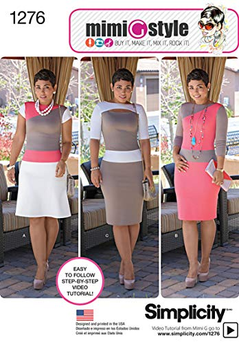 Simplicity Mimi G Style Pattern 1276 Misses Miss Petite Knit Dress with Bodice and Skirt Variations Sizes 16-18-20-22-24