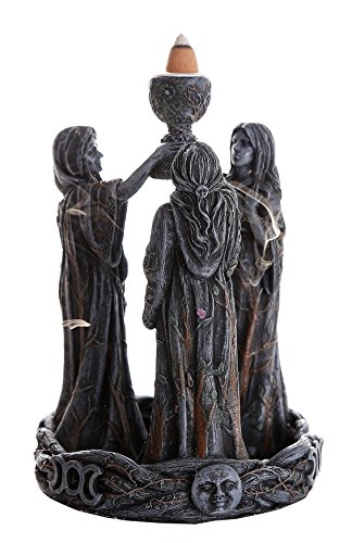 Pacific Giftware Triple Goddess Mother Maiden Crone Ceremonial Chalice Backflow Incense Holder