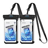 """Mpow Waterproof Case, Full Transparency IPX8 Waterproof Phone Pouch with Adjustable Lanyard Universal Phone Bag for iPhone X/8/8P/7/7P, Samsung Galaxy S9/S9P/S8P/Note 8, Google/HTC up to 6.0"""""""