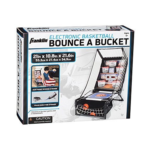 Franklin Sports Electronic Basketball Bounce Junior, 21 x 10.875 x 21.625-Inch