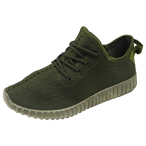 Señoras Corriendo Formadores Para Mujer Ejercicio Gym Nuevo Deportivo Inspirada Bombas De Zapatos Talla 3-8 Green Khaki