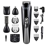 Men Hair Clippers Beard Trimmers Men Shaver Nose Ear Trimmers Eyebrow Cutter Mustache Grooming Trimming Electric Razor Rechargeable and Cordless