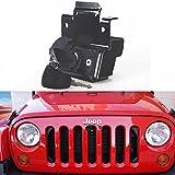 Bosmutus Jeep Wrangler Hood Lock | Hood-Locking Kit for 2 Door / 4 Door 2007-2018 JK JKU Sahara Rubicon Unlimited Sport | Anti-Theft Device