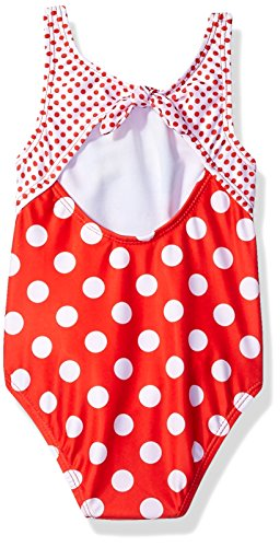 Large Product Image of Disney Toddler Girls' Minnie Polka Dot Swimsuit, Ruby, 2T