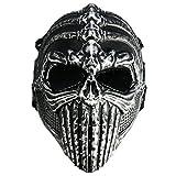 CAMTOA Overhead Skull Mask Outdoor Hunting Cs War Game Mask Skull Skeleton Airsoft/Paintball/BB Gun/CS Full Face Protect Mask Gear Tactical Airsoft Mask