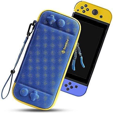 tomtoc Funda Ultra Delgada para Nintendo Switch, Patente Original Estuche Rígido con más Espacio de Almacenamiento para 10 Juegos, Case de Transporte con Proteción de Nivel Militar, Azul: Amazon.es: Electrónica