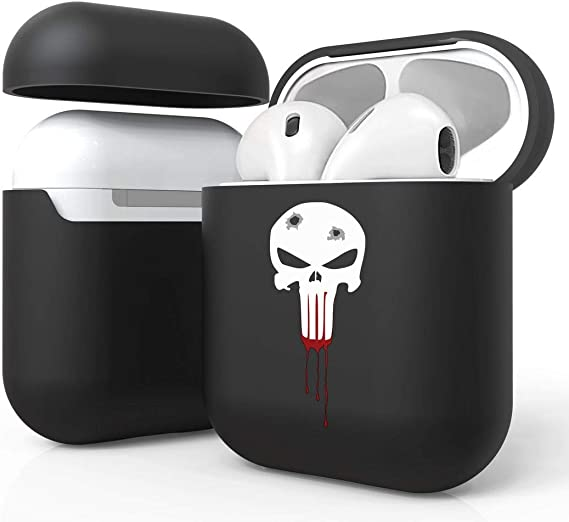Amazon Com Bemz Slim Lightweight Protective Case Cover For Apple Airpods Gen 1 2 Bloody Skull