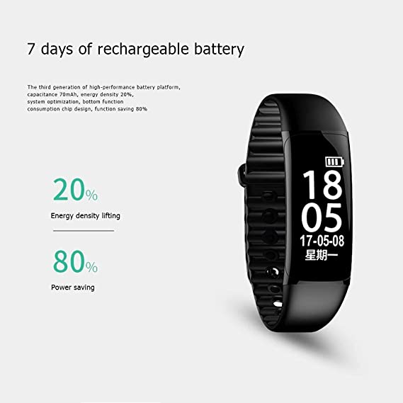 Amazon.com: F9 Smart Watch Bracelet Blood Pressure Oxygen Heart Rate ...