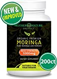Organic Moringa 200 Capsules - 100% Pure Leaf Powder - Max 1000mg Per Serving - Complete Green Superfood Supplement - Full 3 Month Supply - Miracle Tree Organic Moringa Oleifera Powder (200 Capules)
