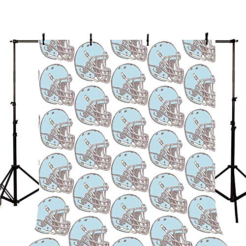 American Football Stylish Backdrop,Sketch Art Style Rugby Helmets Vintage Pattern American Athletics Decorative for Photography,78.7