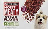 Purina Moist and Meaty Steak Food, Pack of 12 Pouches Review