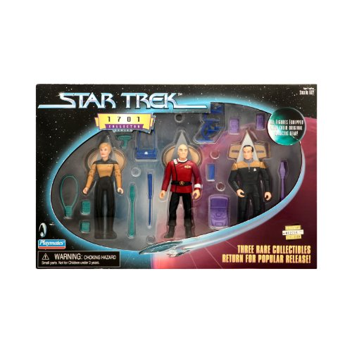 Series Trek Star Collector (Star Trek 1701 Collector Series Picard Barclay Yar Figure Set)