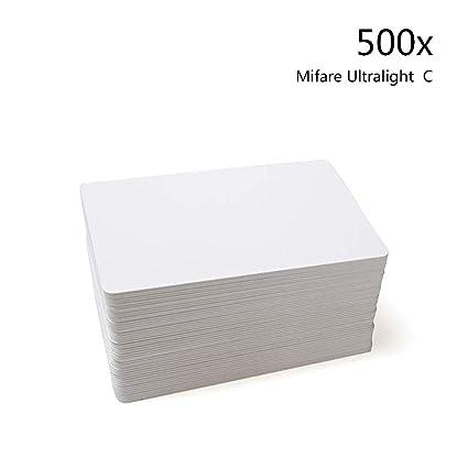 500pcs Mifare® Ultralight C Blank White Tarjeta inteligente sin ...