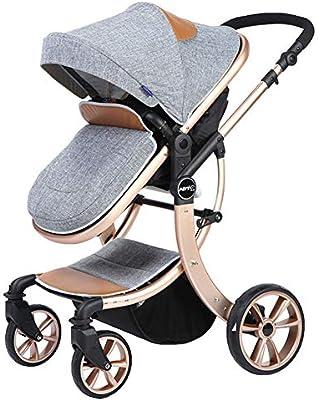 Cochecito Bebé Plegable Silla De Paseo Ligero Carrito NiñO Carricoche,Gray