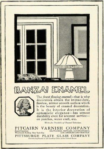 Enamel Decoration (1920 Ad Pitcairn Varnish Co Banzai Enamel Decoration Interior Design Coating - Original Print Ad)
