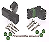 delphi electrical connectors - Delphi Packard Weatherpack 3 Pin Terminal Kit 12 AWG