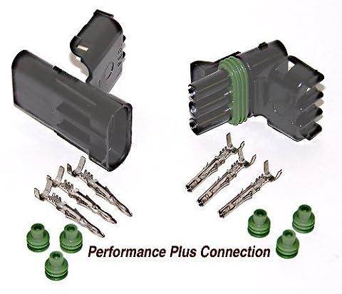 Delphi Packard Weatherpack 3 Pin Terminal Kit 12 AWG