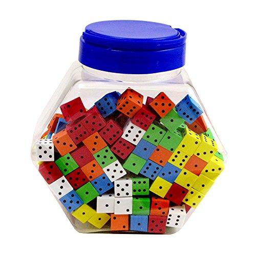KOPLOW GAMES INC. 16MM FOAM DICE TUB OF 200 ASSORTED (Set of 3)