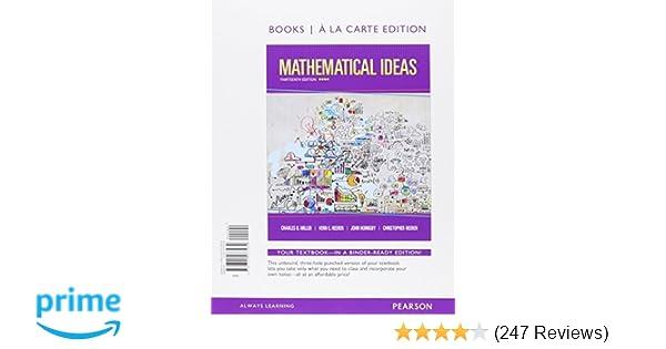 Amazon mathematical ideas books a la carte edition amazon mathematical ideas books a la carte edition 9780321977939 charles d miller vern e heeren john hornsby christopher heeren books fandeluxe Gallery