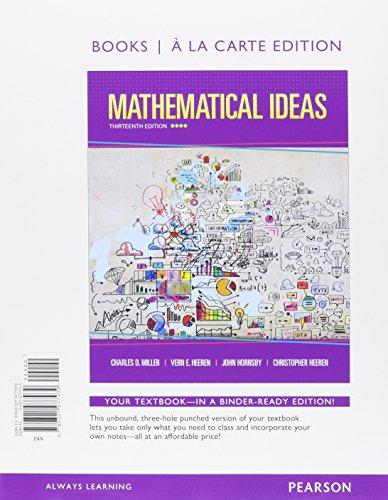Mathematical Ideas, Books a la Carte Edition