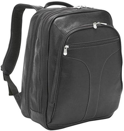 Piel Leather Checkpoint Friendly Urban Backpack, Black, One Size by Piel Leather