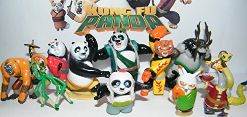Dreamworks Kung Fu Panda 3 Deluxe Party Favors Goody Bag Fillers Set of 13 with Po, The Furious Five, Shifu, the evil Kai and More New (Deluxe Favor)