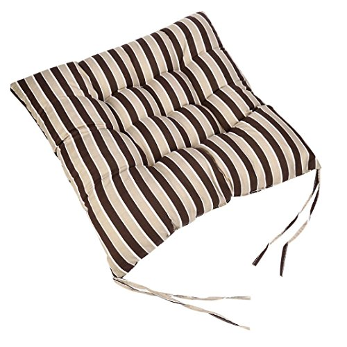 Sothread Soft Striped Chair Cushion Indoor/Outdoor Garden Patio Home Kitchen Office Sofa Seat Pad (D) (Patio High Chair Cushions Back Clearance)