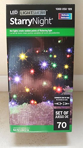 Multicolored Net (LED LightShow Starry Night - Multicolored Net Light - Set of 70 Lights)