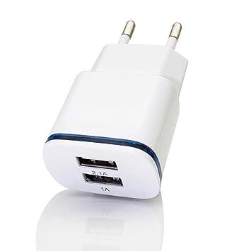 STRIR Cargador con 2 Puertos USB 5V/2.1A y 5V/1A USB ...