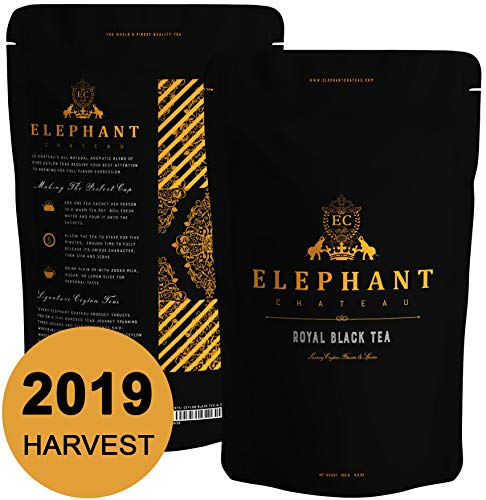 Royal Black Tea | 50 Cups | Delicious Iced & Hot Tea | Extra Special Ceylon Loose Leaf | English Breakfast & Afternoon Teatime | Naturally Aromatic Leaves in Bulk Bag | Plain Unsweet Organic Teas ()
