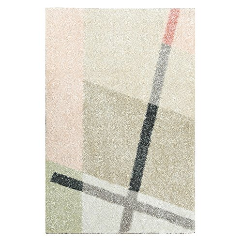XINGZHE Carpet - - Simple Modern Polyester Geometric Rug, Bedroom, Living Room, Study, Woven Soft and Comfortable Non-Slip dustproof Rug Home (Size : 1600X2400MM) ()