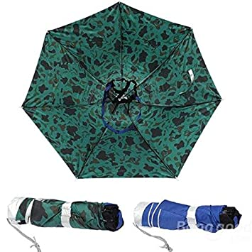 mark8shop plegable paraguas para pesca senderismo Golf Camping Sun Headwear Cap cabeza sombreros al aire libre