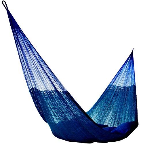 Hammocks Rada: Handmade Yucatan Hammock - Matrimonial Size Dark Blue Color - 13ft long Artisan Crafted