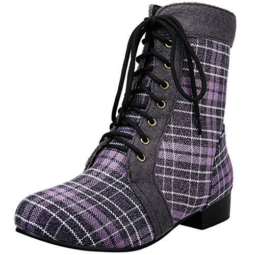 Mavirs Womens Mashoc Western Heel Mid-Calf 6.5 3 cm Boots, Synthetic, 6.5 Mid-Calf B(M) US B07GLQS491 Shoes c6b1dc