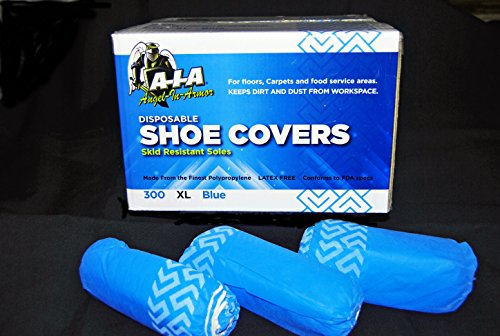 Non-Skid Disposable Shoe Covers Case of 300 A-I-A Angel-In-Armor (Extra (Armor Footwear)