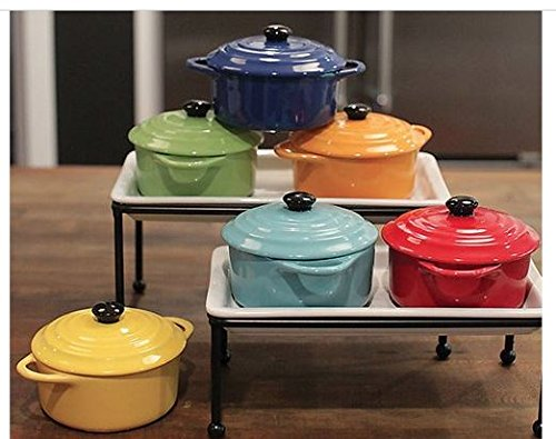 Christina Home Designs 5'' Mini Baker with Lid, Round (Turquoise)