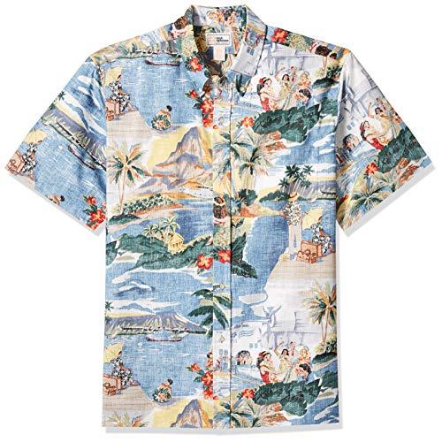 Reyn Spooner Men's Transpac 40's Spooner Kloth Classic Hawaiian Shirt, Scenic, L