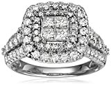 14k White Gold Invisible Set Diamond Engagement Ring (2cttw, H-I Color, I1-I2 Clarity), Size 7