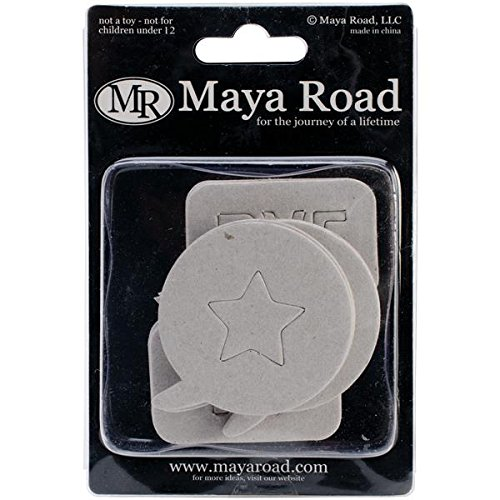 Maya Road Chipboard Set, Say What Bubbles, 1.25-Inch to 2.25-Inch, ()