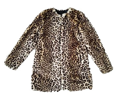 (Diane Von Furstenberg Francie Faux Fur Coat, Leopard, S)
