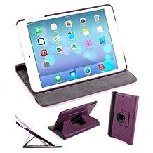 DURAGADGET 360° Rotating Purple PU Leather Folding Folio Stand Case for Apple iPad Air (A1474 / A1475) (16GB, 32GB, 64GB & 128GB)
