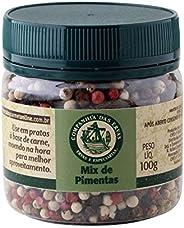 Mix de Pimentas Companhia Das Ervas Pote Pet 100g