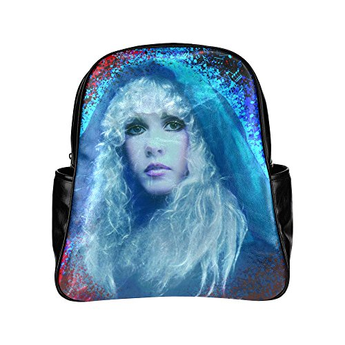 sljd-unisex-stevie-nicks-dream-ppcorn-art-black-stylish-multi-pocket-backpack