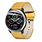 OOLIFENG IP67 Waterproof Smart Watch, Activity Tracker Watch and Blood Pressure + Heart Rate Monitor, Fitness Tracker Wristband with Pedometer for iPhone Android,Yellow