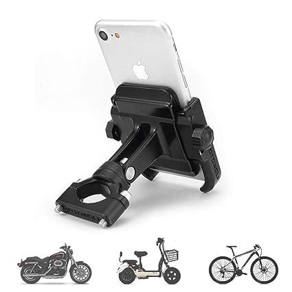 Motorrad Lenker Handyhalter mit USB Steckdose Smartphone Handy Navy GPS Schwarz