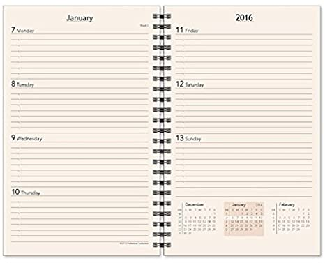 Preference Collection PD85WI-OS-2018 Monthly / Weekly Diary Refill Wire Bound Agenda Insert 5